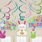 Happy Easter Hanging Bunny Swirls Party Egg Hunt Decorations