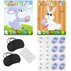 Happy Easter Pin the Tail on the Bunny Game W/ Bunny Poster/