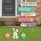 Hippity Hoppity - Street Sign Cutouts - Easter Bunny Party Y