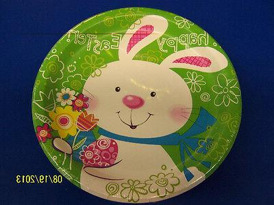 Hoppy Bunny Easter Rabbit White Cute Theme Holiday Party 9""
