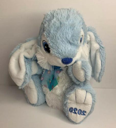 Hoppy Hopster Easter Bunny 2020 NEW Blue/White Fluffy Soft Plush