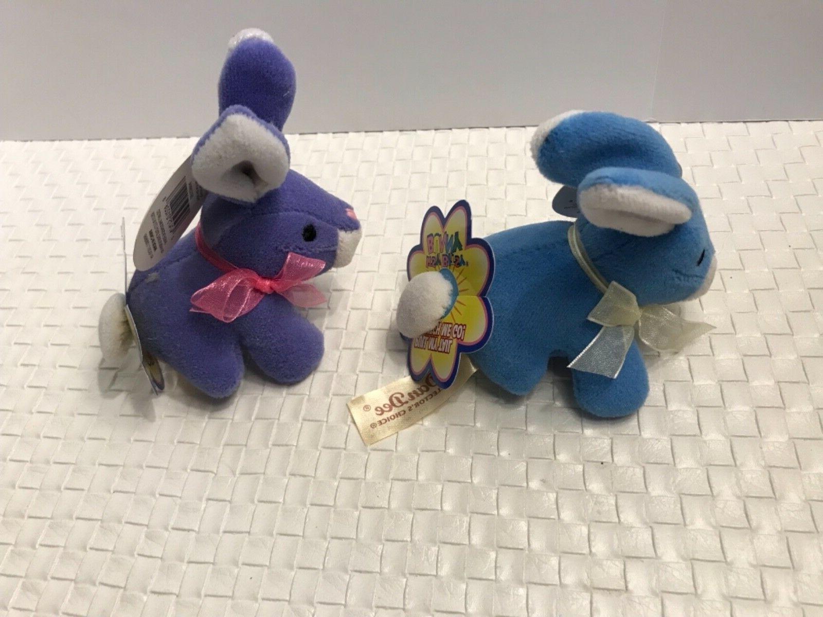 Dan Easter Bunny Rabbit ~ Lot 2 Purple & NWT