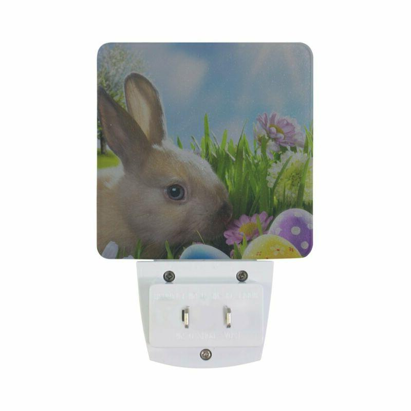 ALAZA LED Night Light With Smart Dusk Dawn Easter Bunny