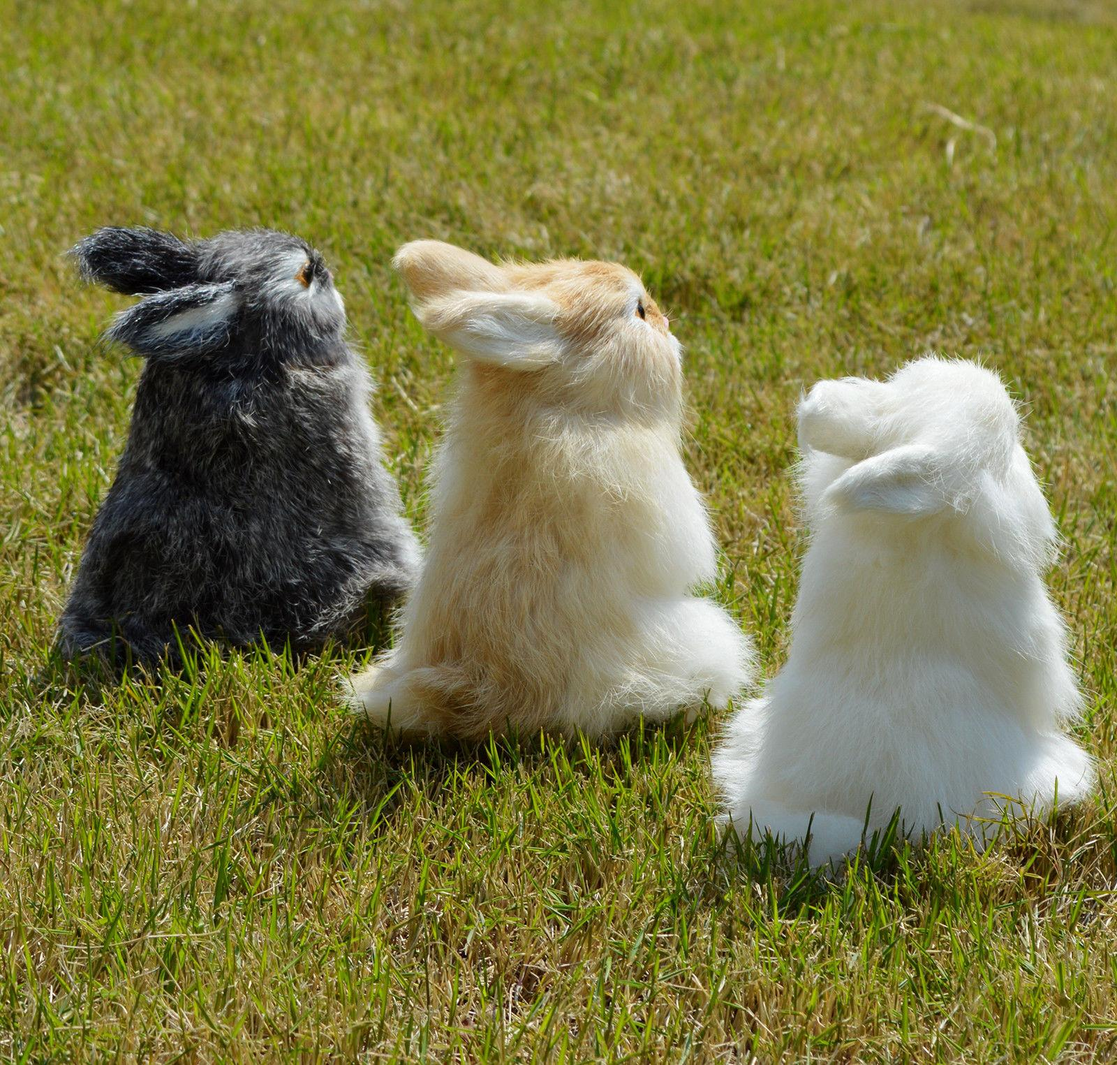 Lifelike Rabbit Home Decoration Figurine Fur
