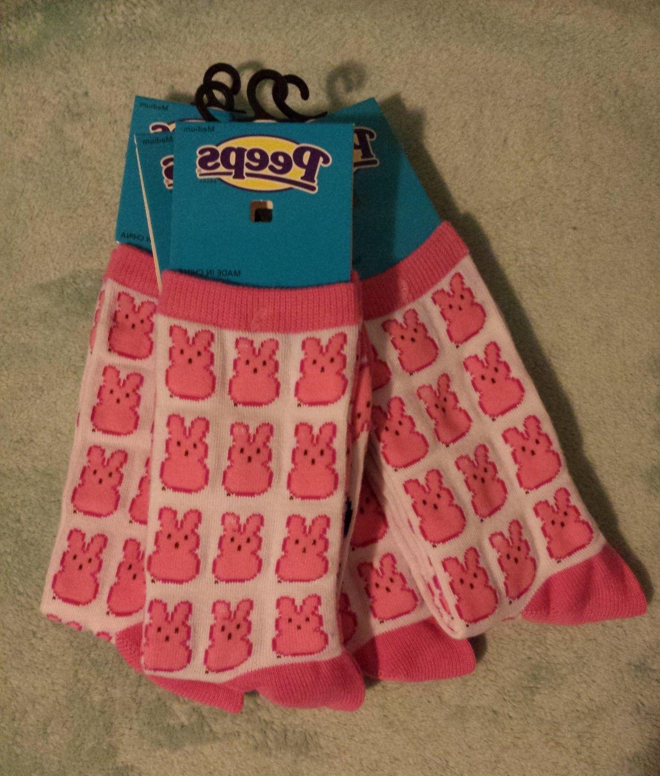 Peeps *Limited Bunny Socks/Liners MEDIUM Women Men