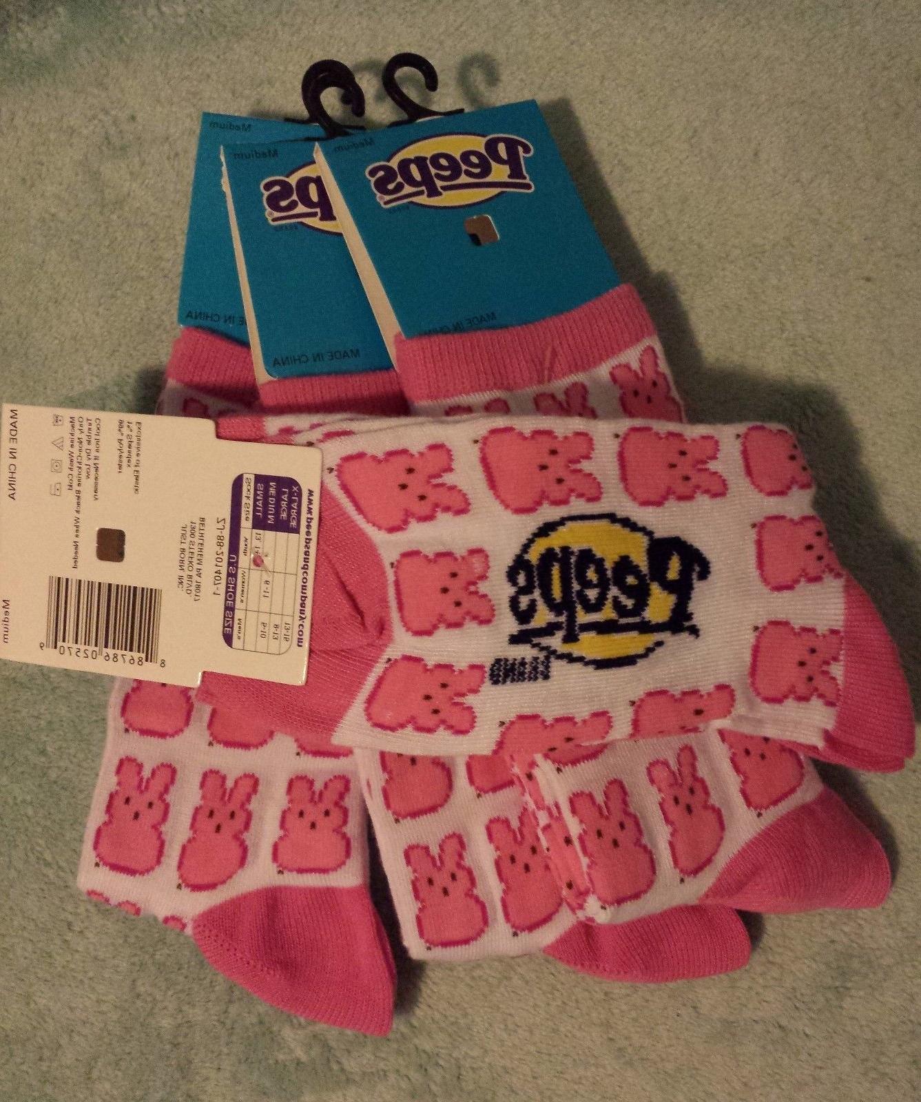 Peeps *Limited Edition*Easter Socks/Liners MEDIUM Women Men 5-10