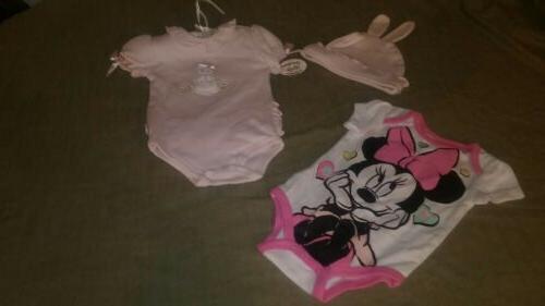 Lot NWT Bearington Collection Pink Bunny Easter 0-6 Mo