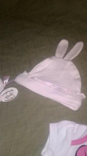 Lot Bearington Collection Girls Pink Easter Piece 0-6 Mo