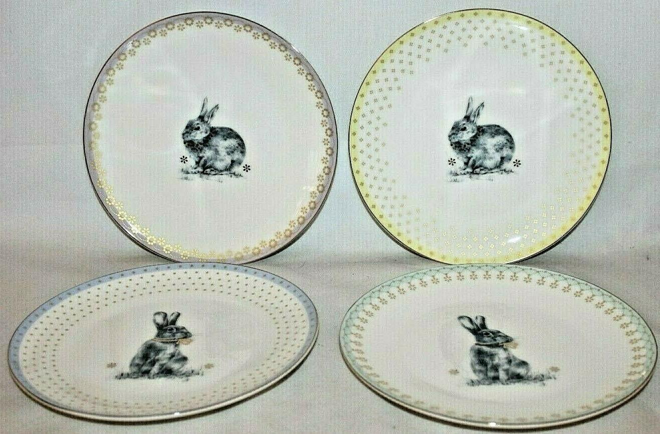 SPODE Lane Bunny Rabbit 4 Porcelain Salad Side Plates New