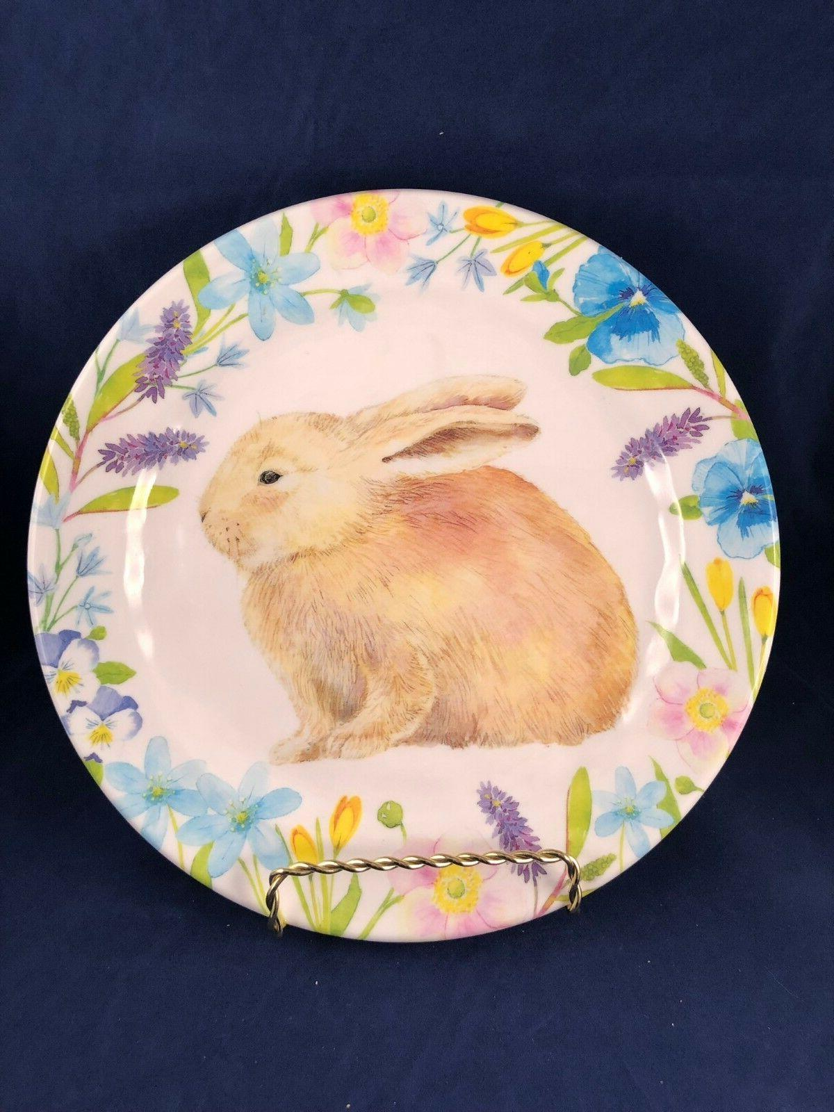 Cottontail or Plates Set Spring Easter