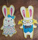 Mr. and Mrs. Easter Bunny Color - In Wood Ornament Kit with