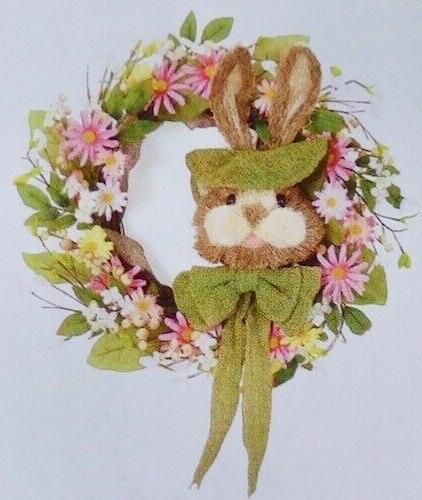 New Bunny Head Wall Wreath Supplies Decor Decorations