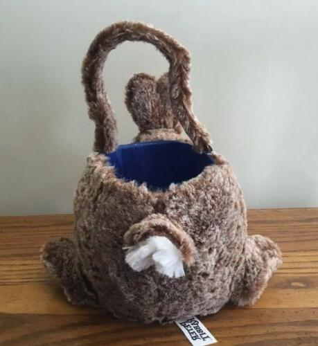NEW Easter BASKET Bunny Plush Tote Decor Egg Treats Baby