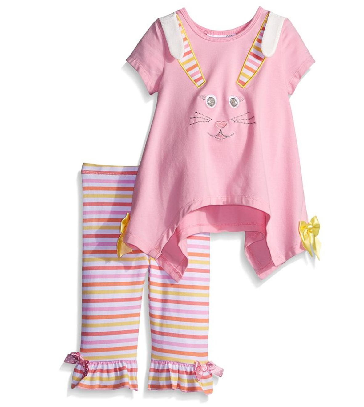 Bonnie Jean Newborn Baby Girls Spring Holiday Easter Bunny C