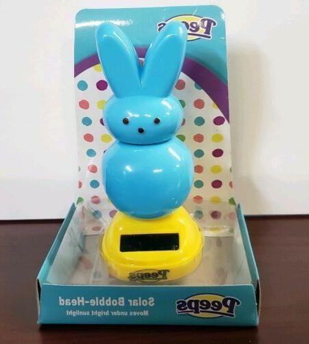 nib easter peeps solar bunny bobble head