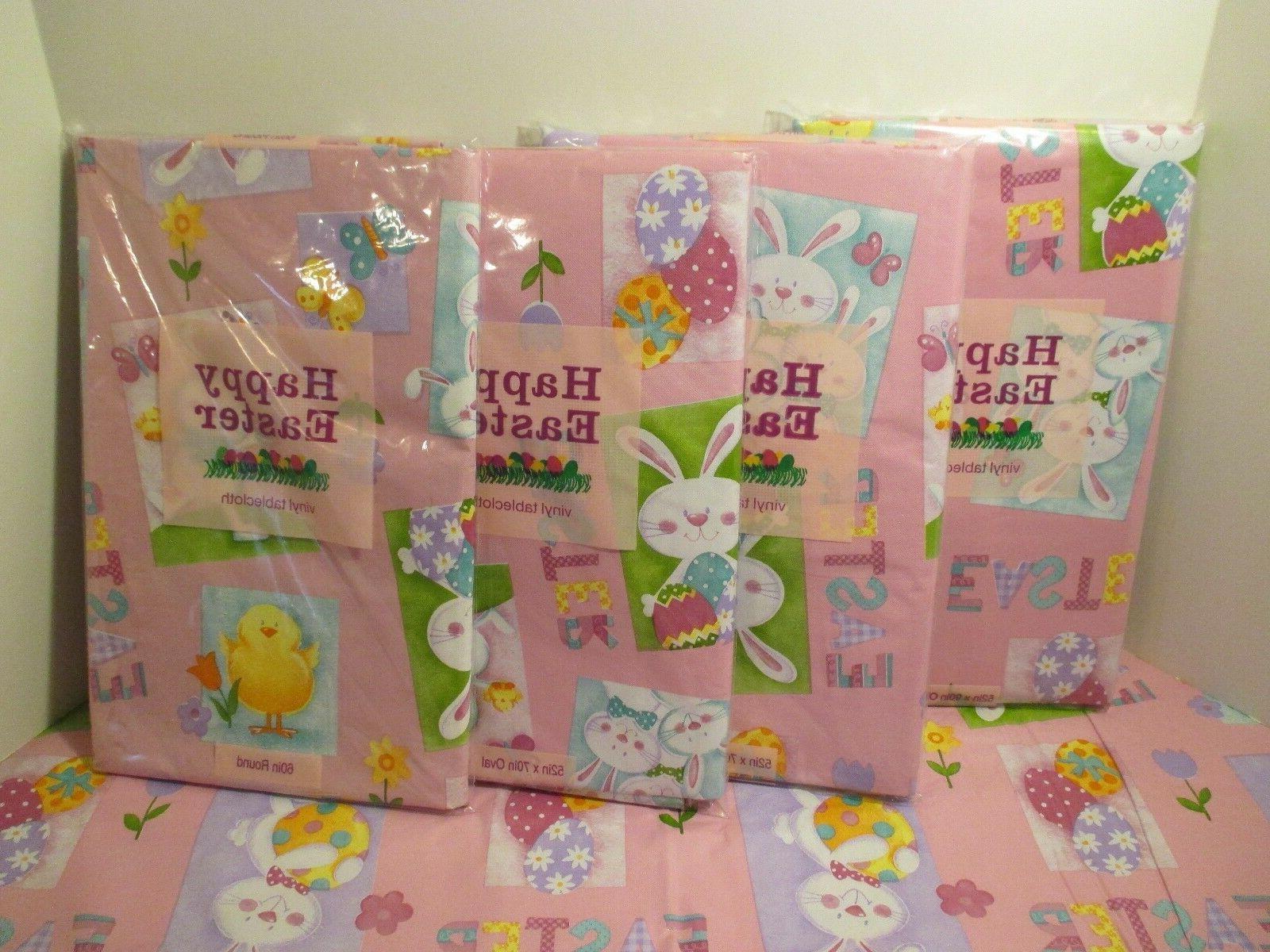 NIP Elrene Easter Bunny Chick Vinyl Easy Wipe Kitchen Party