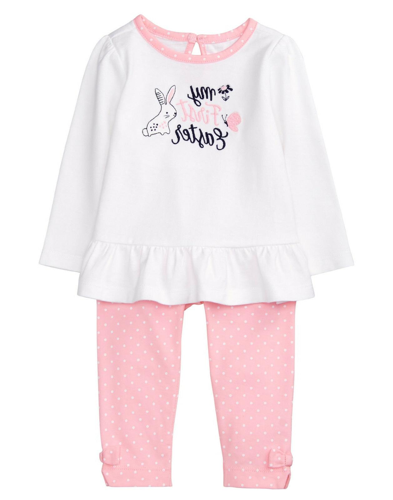 NWT Gymboree Baby Bunny Rabbit My First Easter Top Pants Out
