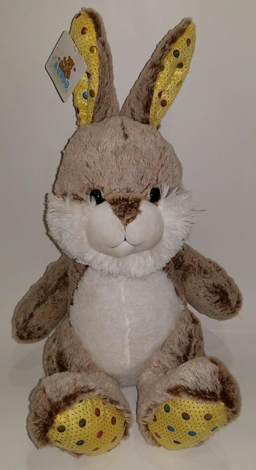 nwt brown bunny rabbit plush stuffed animal