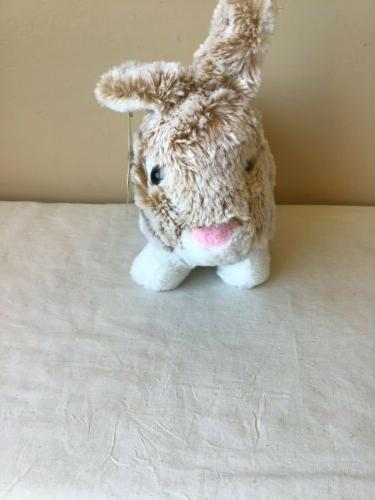 NWT Brown White Easter Bunny Plush Stuffed 7""