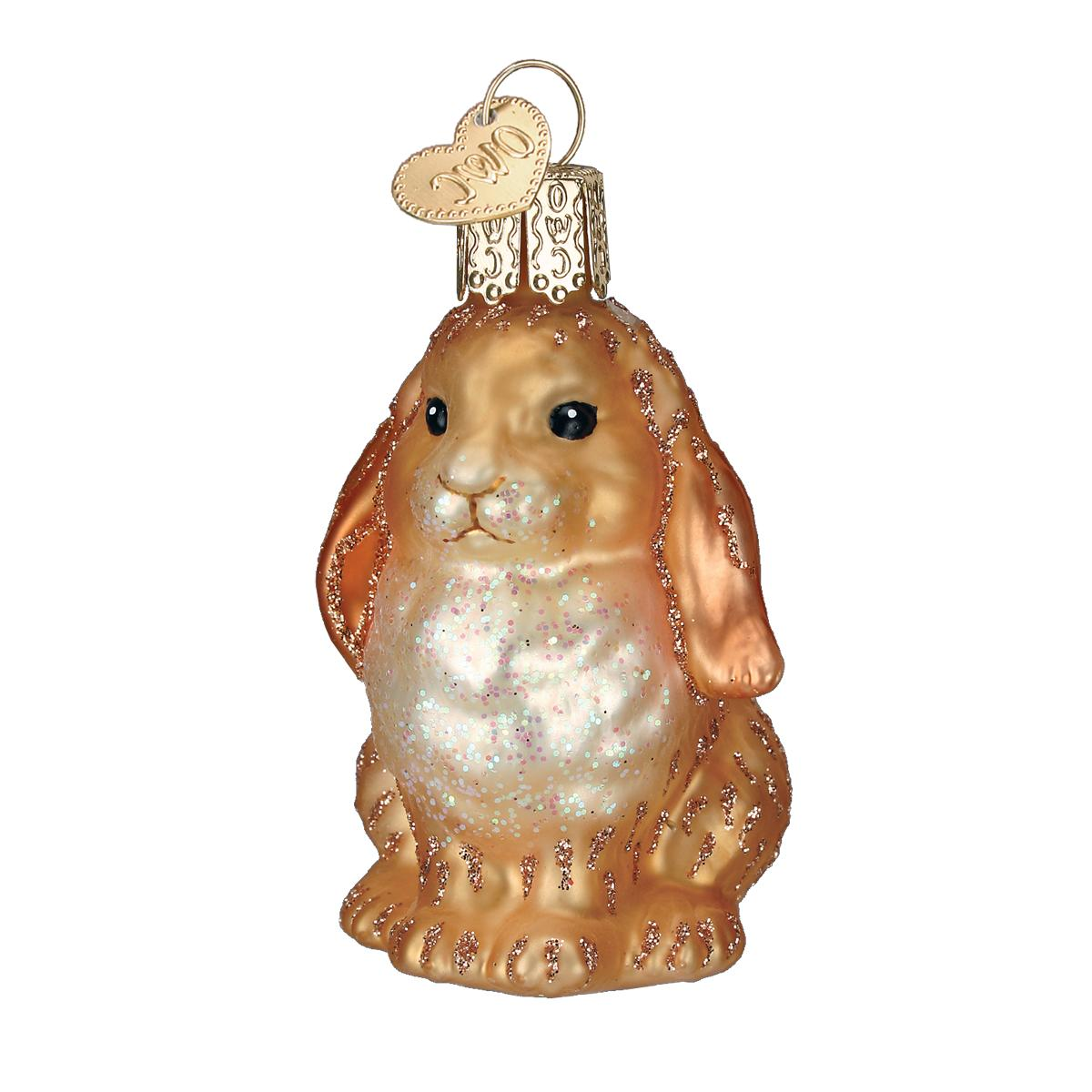 old world christmas easter bunny ornament brown