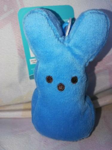 peeps blue easter bunny stuffed animal plush