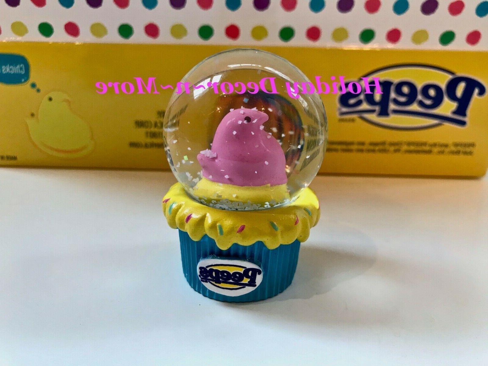 peeps mini snow globe collectible bunny chick