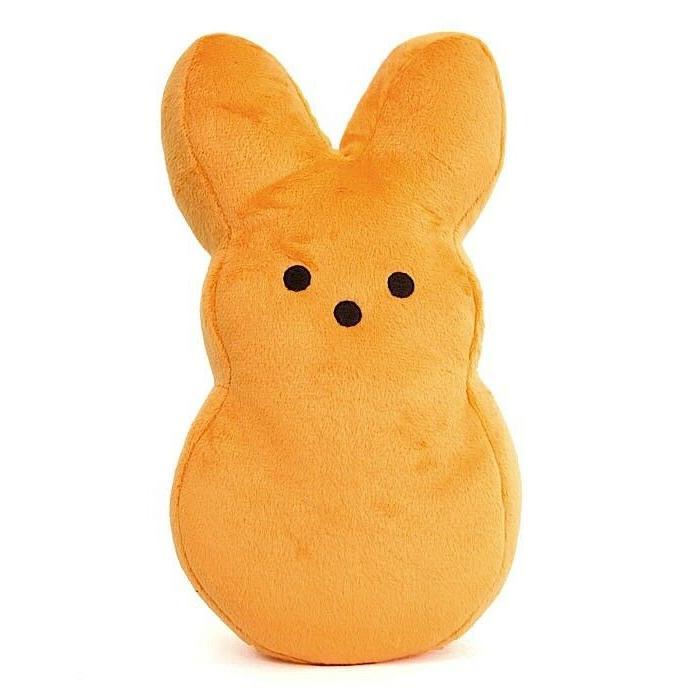 PEEPS Plush Bunny Stuffed Basket Toy Orange