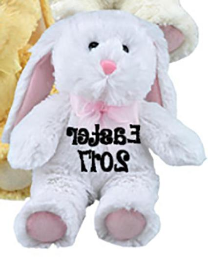 Personalized Plush Baskets-Colorful Bunnies-6