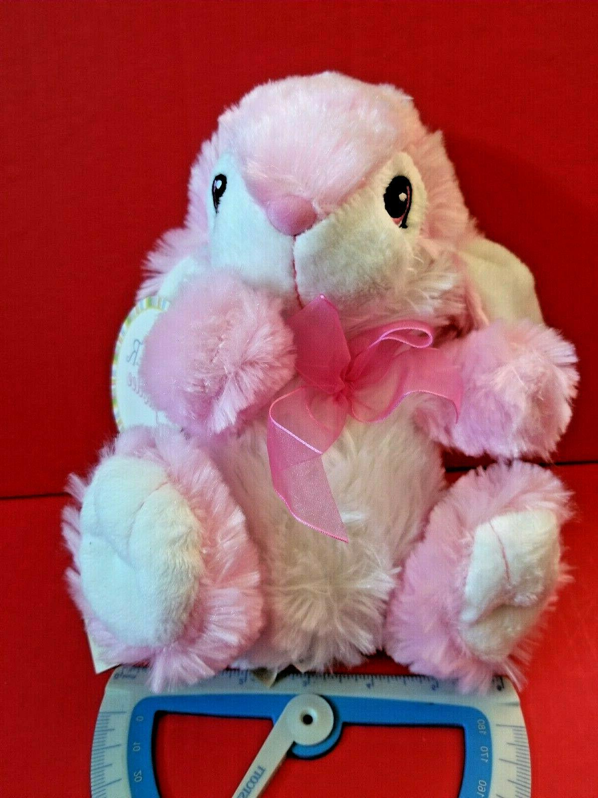 pink bunny plush toy easter holiday rabbit
