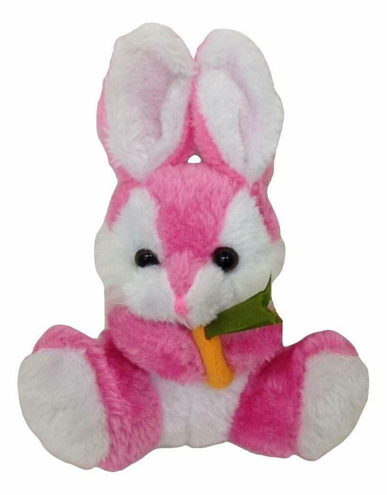 pink easter bunny plush with carrot stuffed