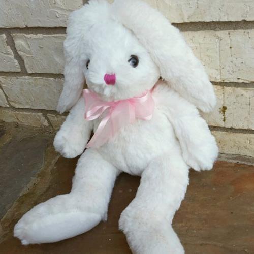Plush, animal, rabbit, birthday, white,