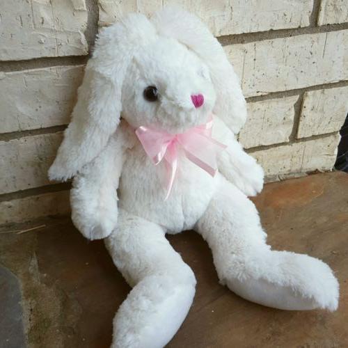 Plush, stuffed bunny, rabbit, Easter, white, baby