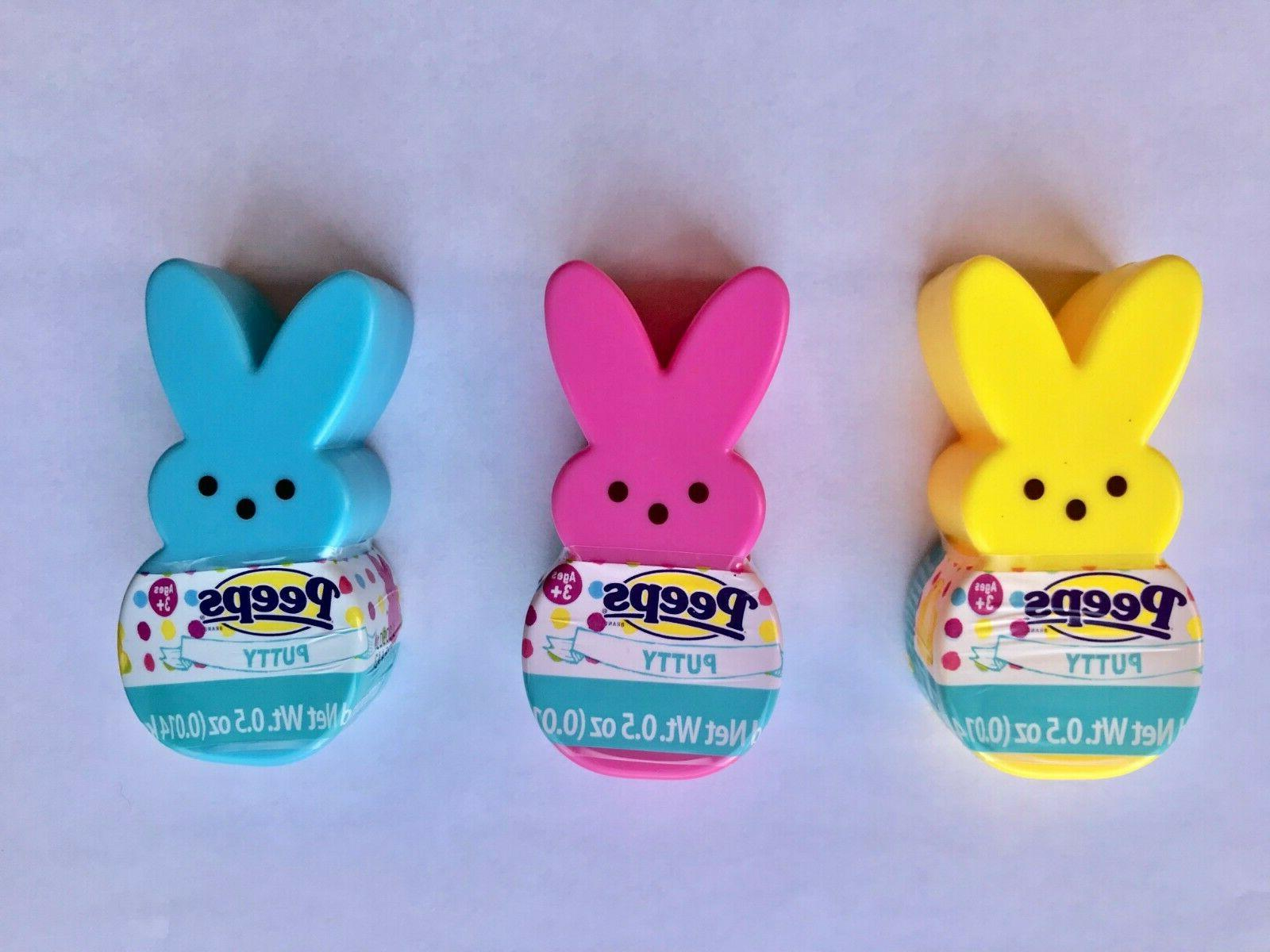 Peeps Putty Bunny Chick Reusable Container Easter Decor Basket toy filler Gift