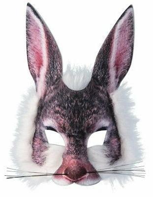 Rabbit Mask 3D Screen Print Realistic Look Soft Face Mask Fu