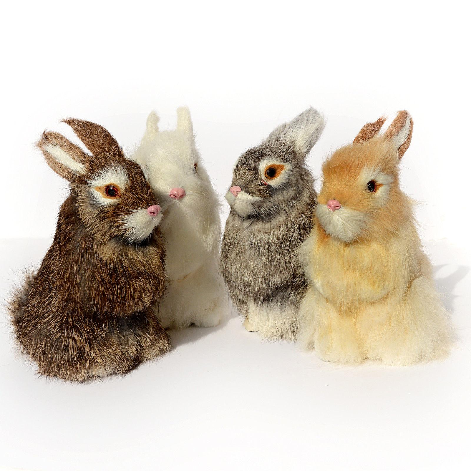 Realistic Artificial Rabbit Easter Spring