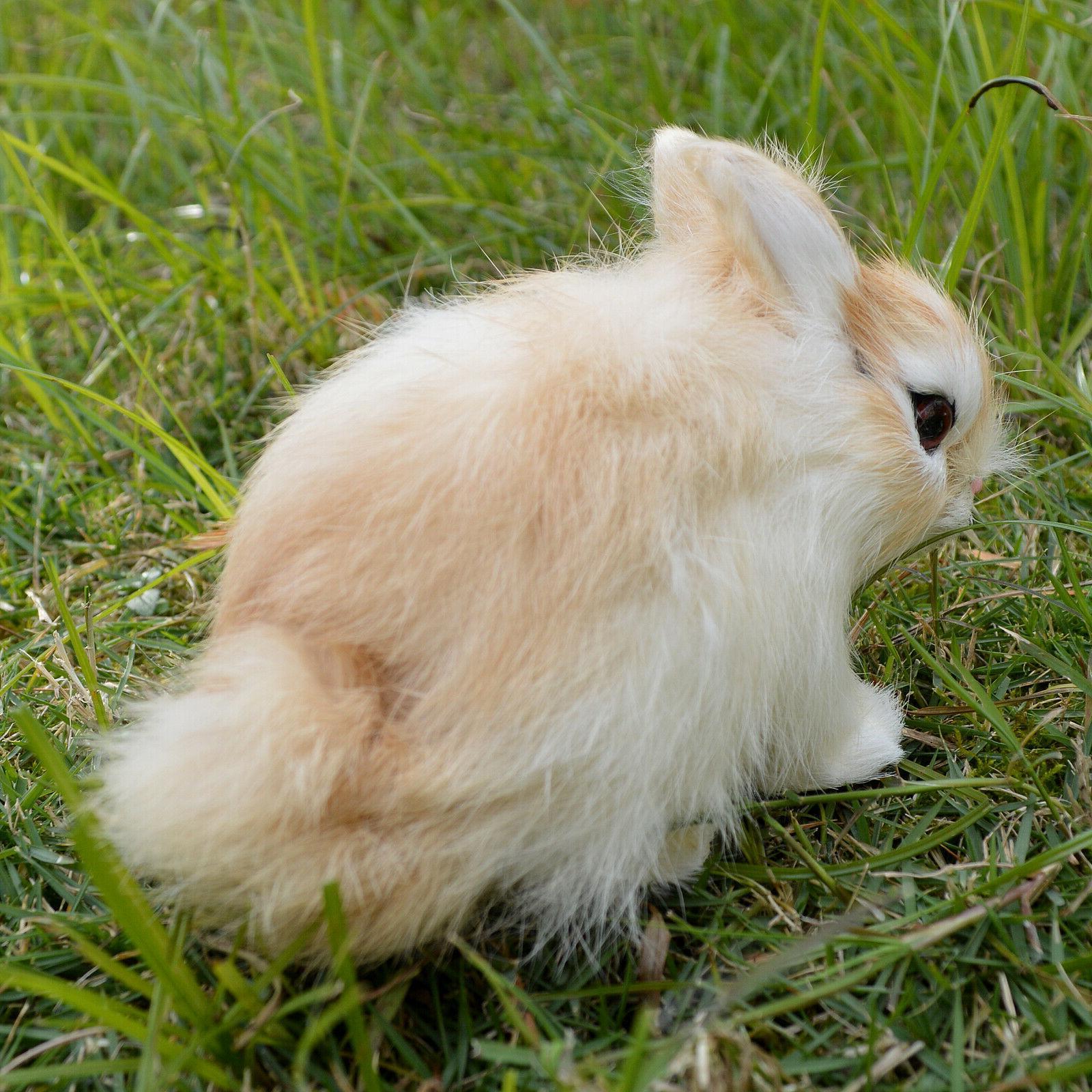 Realistic Rabbit Bunny Animal Figurine Holiday
