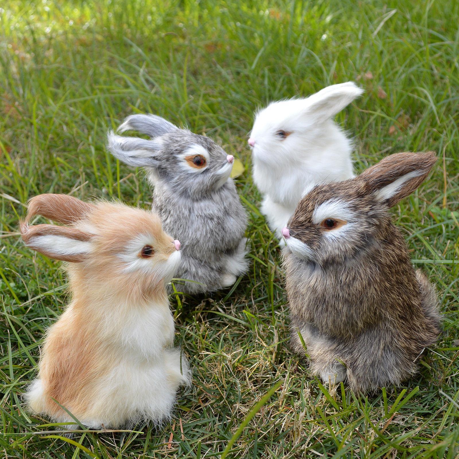 realistic rabbit lifelike easter bunny furry animal