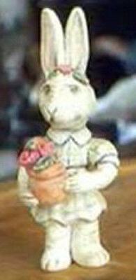 Salamander Poliwoggs Easter Miniature Figurine GIRL BUNNY WI