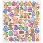Scrapbooking Crafts Stickers Happy Bunnies Rabbits Easter Eg