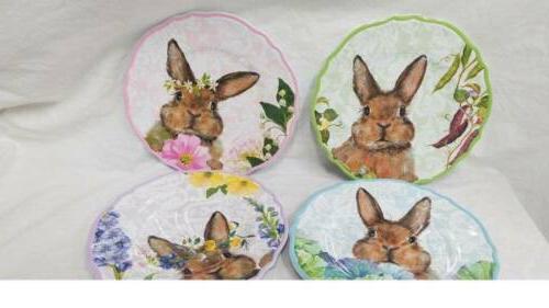 Set Bunny Salad Plates