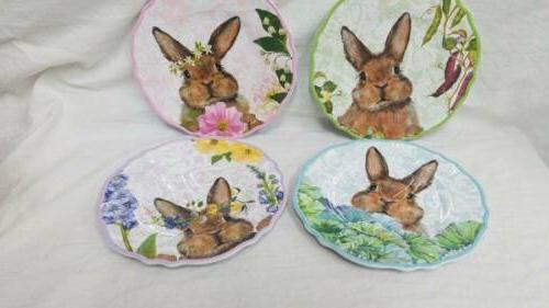 Set Easter Bunny Salad Plates
