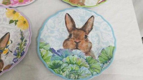 Set of 4 Easter Bunny Pastel Spring Salad