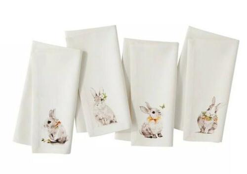 set of 4 nwt bunny pals napkins