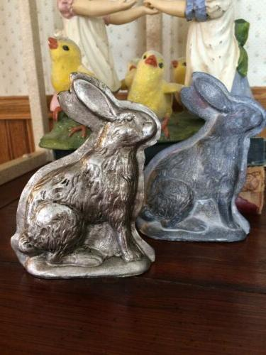 SET Tin Style Easter Bunny Rabbit Lamb Sheep Chick Resin Chocolate Mold Figurine