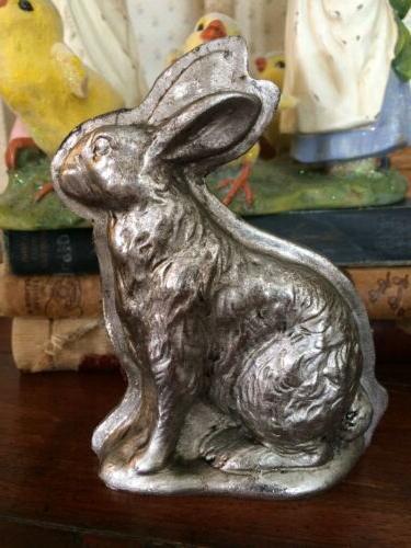 SET Tin Style Easter Bunny Rabbit Lamb Chick Chocolate Figurine