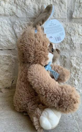 "Sloth Bunny Plush Basket Stuffed Animal Toy 16"" NEW Day Ship!!"
