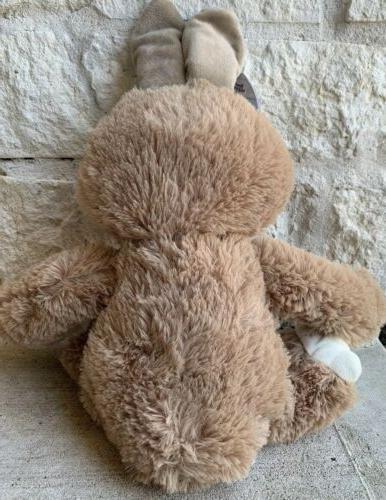 "Sloth Bunny Plush Basket Stuffed Animal Toy 16"" NEW"