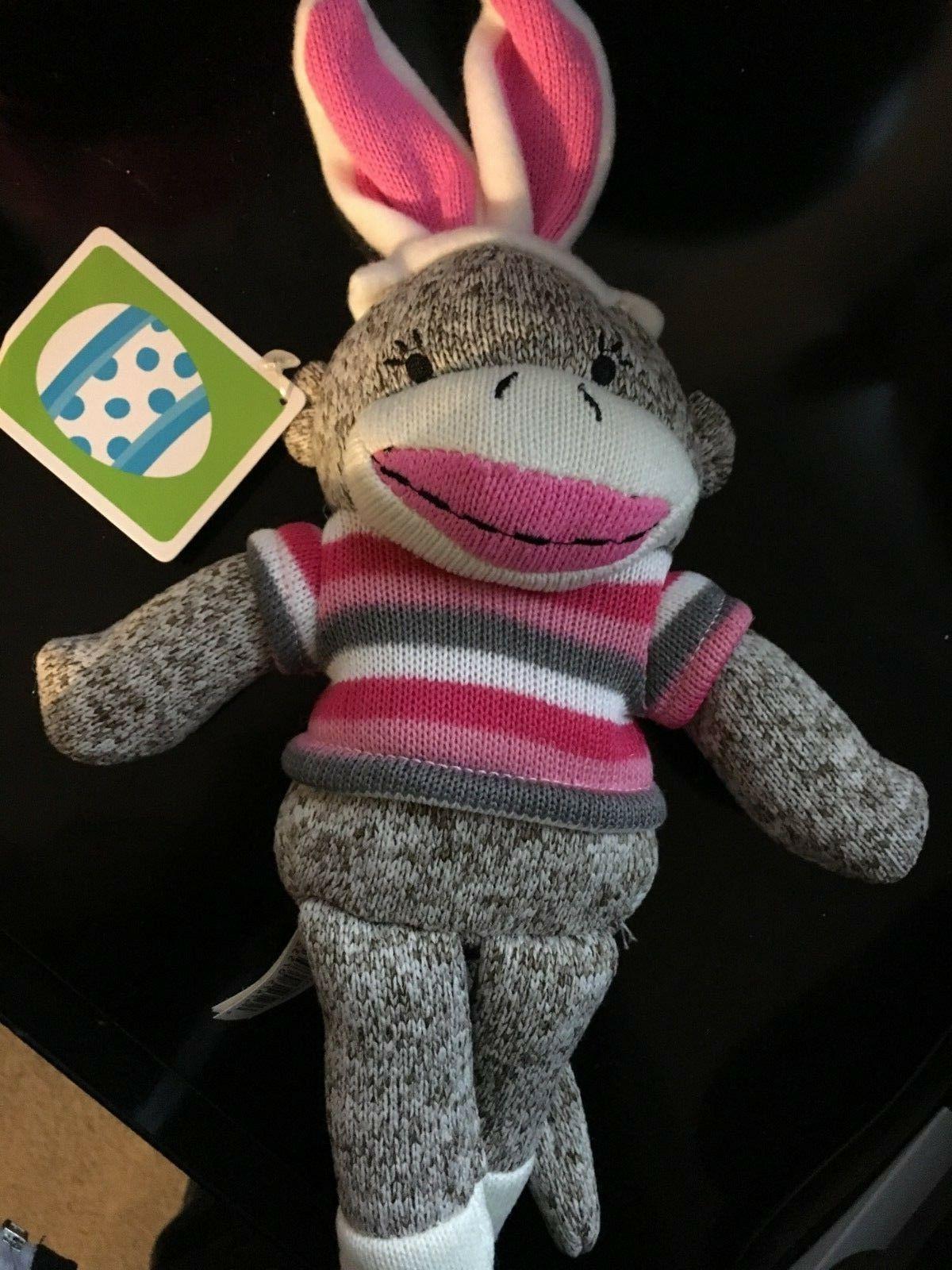 Dan Easter Bunny Pink Pink Striped Shirt NWT