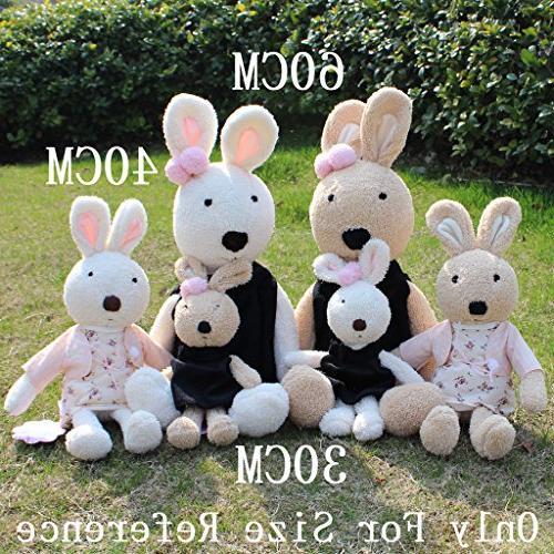 JIARU Plush Stuffed Rabbits with Removable of
