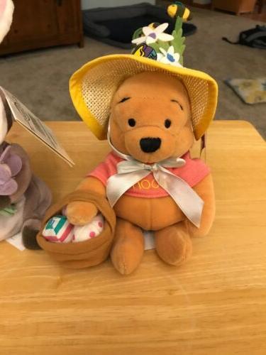 Disney Store Mininbean Easter Pooh Bunny Gopher